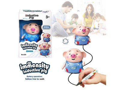 Follow Line To Walk Interaction Pig