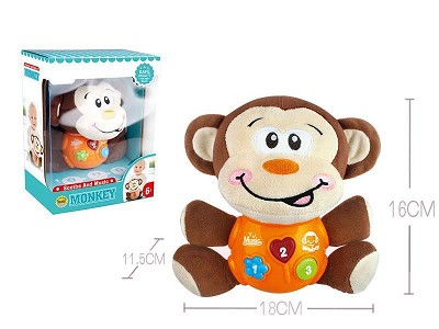 Soothe Monkey Toy With Sounds And Music