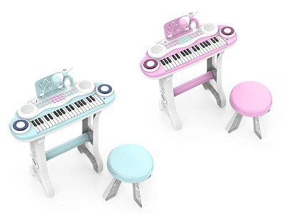 37 Keys Electronic Organ With  Microphone And Chair