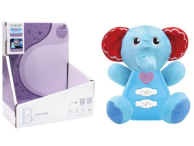Plush Elephant With Sound And Light
