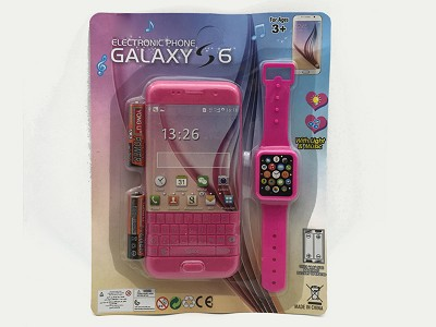 Simulated Music Mobile Phone (include  battery)   Watch