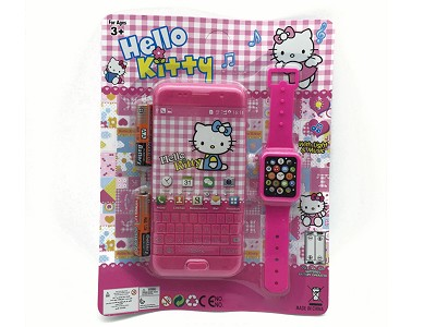 Hello Kitty Music Mobile Phone (include  battery)   Watch