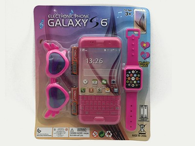 Simulated Music Mobile Phone (include  battery)   Watch,Glasses
