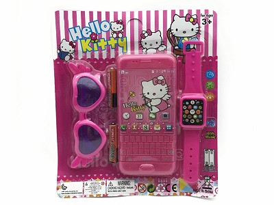 Hello Kitty Music Mobile Phone (include  battery)   Watch,Glasses