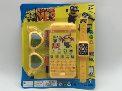 Despicable Me Music Mobile Phone (include  battery)   Watch,Glasses