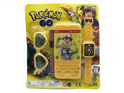 Pikachu Music Mobile Phone (include  battery)   Watch,Glasses