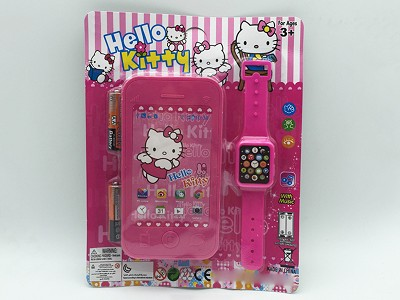 Hello Kitty Mobile Phone   Watch(include  battery)