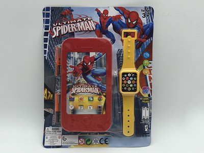 Spider-Man Mobile Phone   Watch(include  battery)