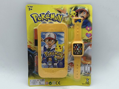 Pikachu Mobile Phone   Watch(include  battery)
