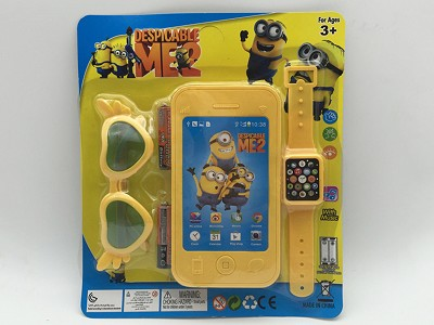 Despicable Me Mobile Phone   Watch,Glasses(include  battery)
