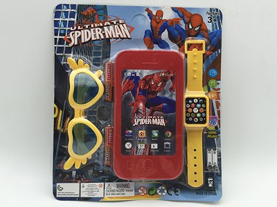 Spider-Man Mobile Phone   Watch,Glasses(include  battery)